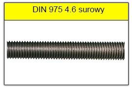 DIN 975 klasa 4.6 surowy