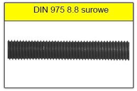 DIN 975 klasa 8.8 surowy