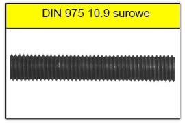DIN 975 klasa 12.9 surowy