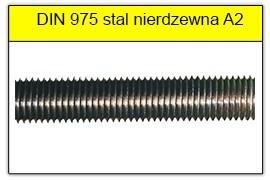 DIN 975 stal nierdzewna A2
