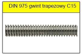 DIN 975 stal C15 gwint trapezowy