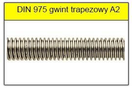 DIN 975 stal A2 gwint trapezowy