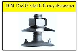 DIN 15237 stal 4.6 ocynk galwaniczny