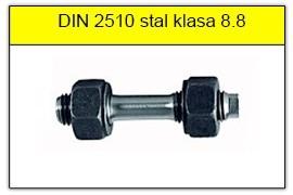 DIN 2510 - PN-74302 stal klasy 8.8