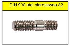 DIN 938 10.9 stal nierdzewna A2