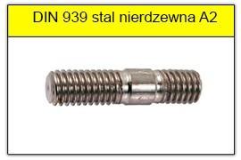 DIN 939 stal nierdzewna A2