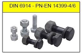 Śruby HV do połączeń sprężanych DIN 6914 - PN-EN 14399-4/6:2007 - PN 82343