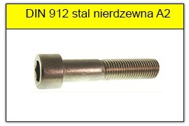 DIN 912 stal nierdzewna A2