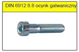 DIN 6912 stal klasy 8.8 ocynk galwaniczny