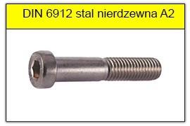 DIN 6912 stal nierdzewna A2