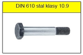 DIN 610 - PN 82341 stal klasy 10.9 bez powłoki