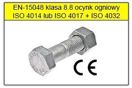 ŚRUBY SB wg EN-15048 8.8 ocynk ogniowy
