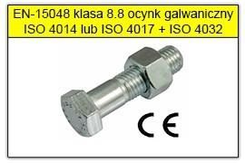 ŚRUBY SB wg EN-15048 8.8 ocynk galwaniczny