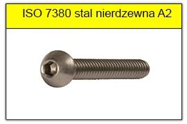 ISO 7380 10.9 stal nierdzewna A2