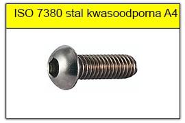 ISO 7380 10.9 stal kwasoodporna A4