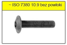 ISO 7380 10.9 bez powłoki