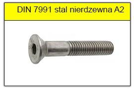 DIN 7991 stal nierdzewna A2