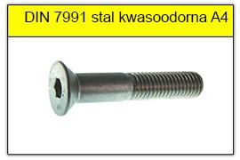 DIN 7991 stal kwasoodporna A4