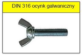DIN 316 ocynk galwaniczny