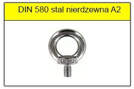 DIN 580 stal nierdzewna A2