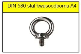 DIN 580 stal kwasoodporna A4