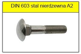 DIN 603 stal nierdzewna A2