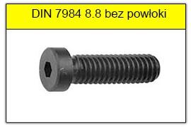 DIN 7984 stal klasy 8.8 bez powłoki