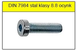 DIN 7984 stal klasy 8.8 ocynk galwaniczny