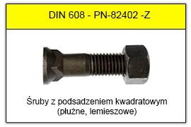 DIN 608 stal klasy 8.8 i 10.9