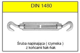 DIN 1480 - Końce hak-hak