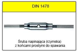 DIN 1478 - Końce proste do spawania