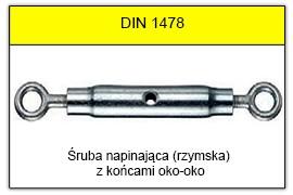 DIN 1478 - Końce oko-oko