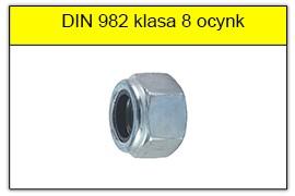 DIN 982 klasa 8 ocynk galwaniczny