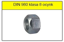 DIN 980 klasa 8 ocynk galwaniczny