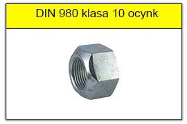 DIN 980 klasa 10 ocynk galwaniczny