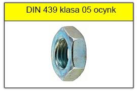 DIN 439 klasa 0.5 ocynk galwaniczny