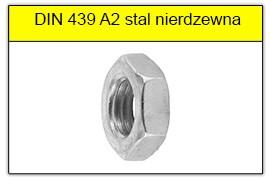 DIN 439 A2 stal nierdzewna