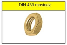 DIN 439 mosiądz