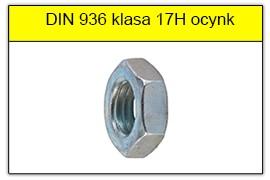 DIN 936 stal klasy 17H ocynk galwaniczny