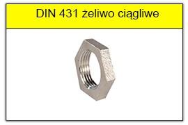 DIN 431 Przeciwnakrętka żeliwna