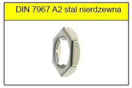 DIN 7967 A2 stal nierdzewna