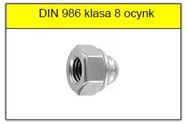 DIN 986 klasa 8 ocynk galwaniczny