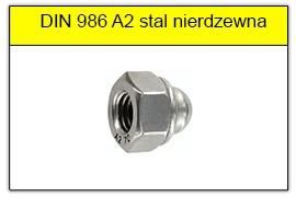 DIN 986 A2 stal nierdzewna