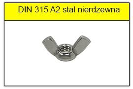 DIN 315 A2 stal nierdzewna