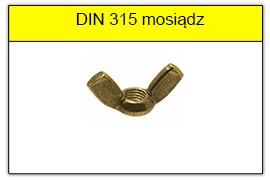 DIN 315 mosiądz