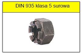 DIN 935 klasa 5 surowa