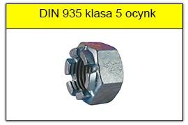 DIN 935 klasa 5 ocynk galwaniczny