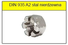 DIN 935 A2 stal nierdzewna