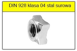DIN 928 stal surowa