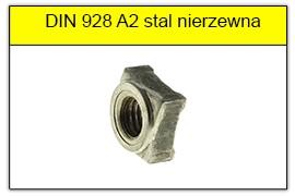 DIN 928 A2 stal nierdzewna